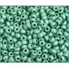 Ponybead 6/0 Metallic Mint Green Matte Terra Colour
